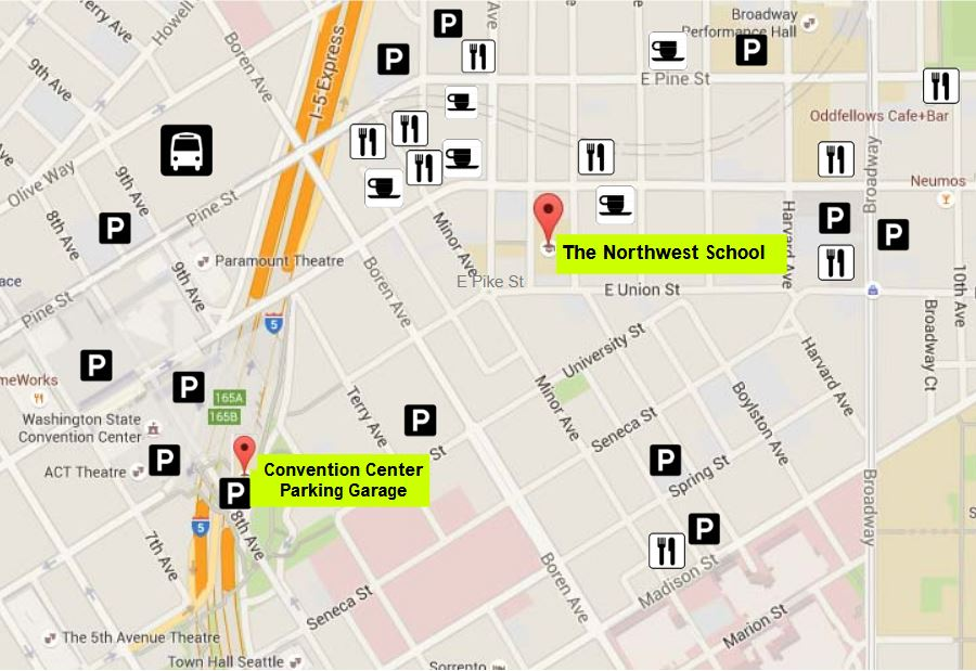 Northwest School Parking Map